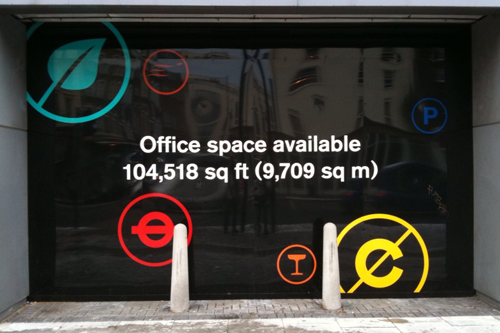 Office space available 104,518 sq ft (9,709 sq m)